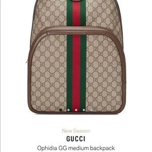 Gucci Bags - GUCCI GG Ophidia Backpack **AUTHENTIC**